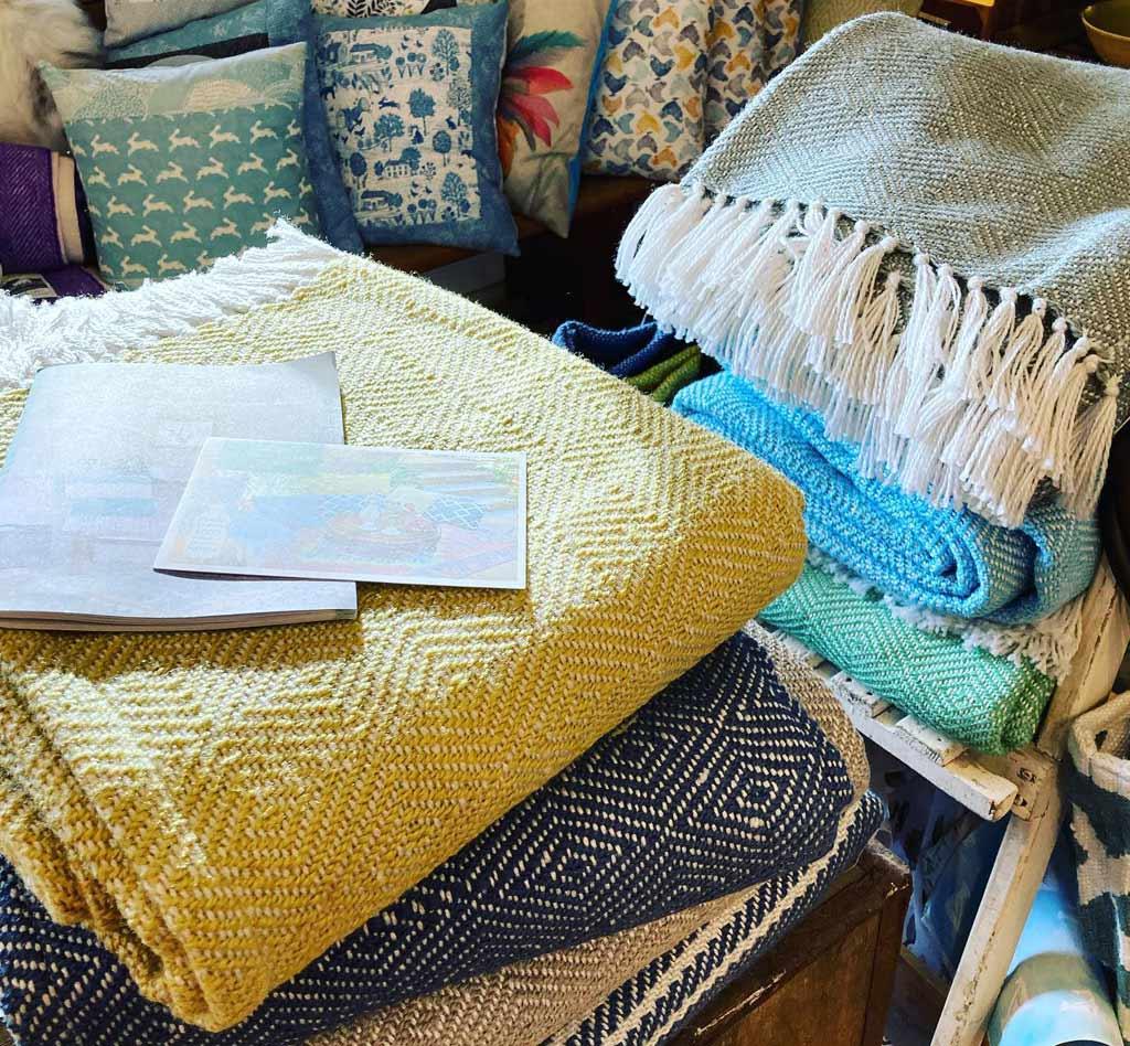 Blankets at Blue Tin Farm Shop