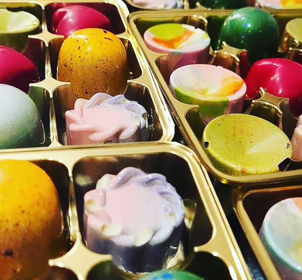 Locally produced chocolates at Blue Tin Farm Shop