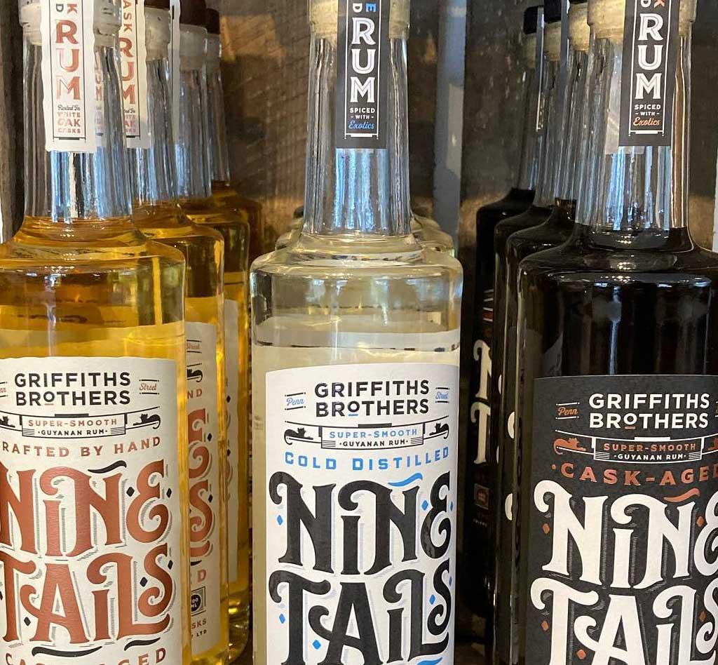 Nine Tails Rum at Blue Tin Farm Shop