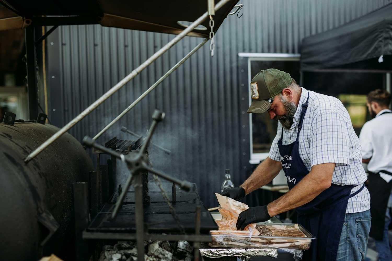 Smoker and BBQ at Blue Tin Produce