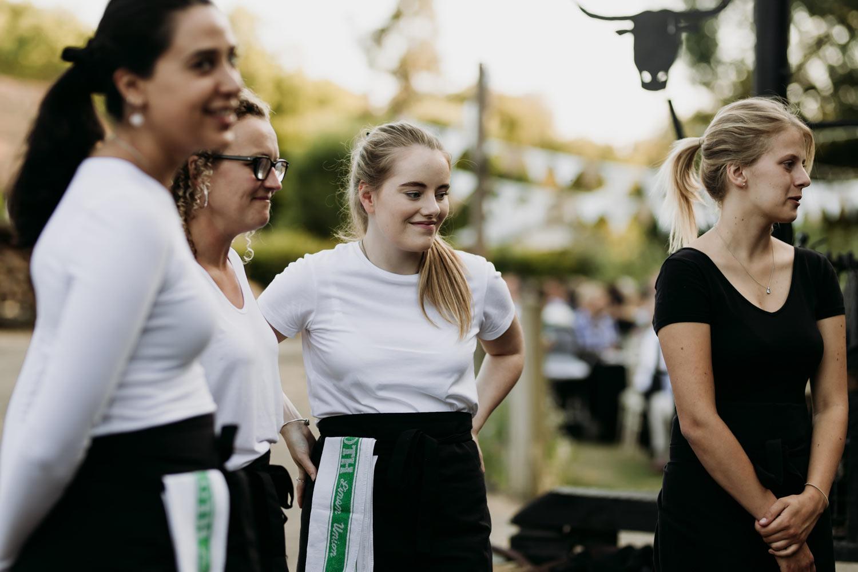 Waitress service at Blue Tin Produce Farm event