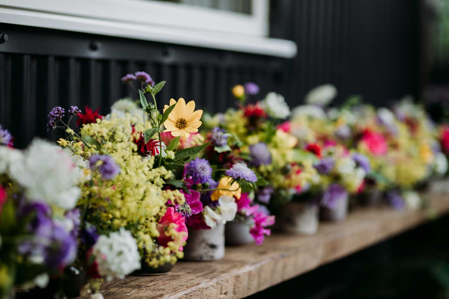 Event flowers at Blue Tin