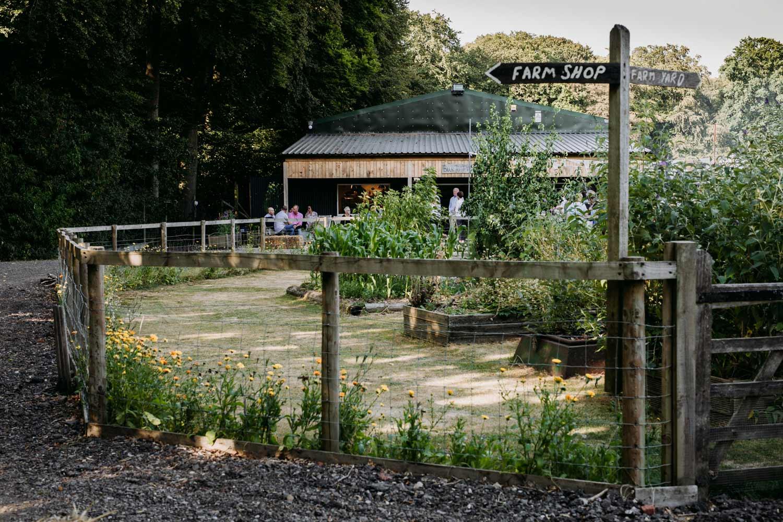 Farm shop and coffee bar at Blue Tin