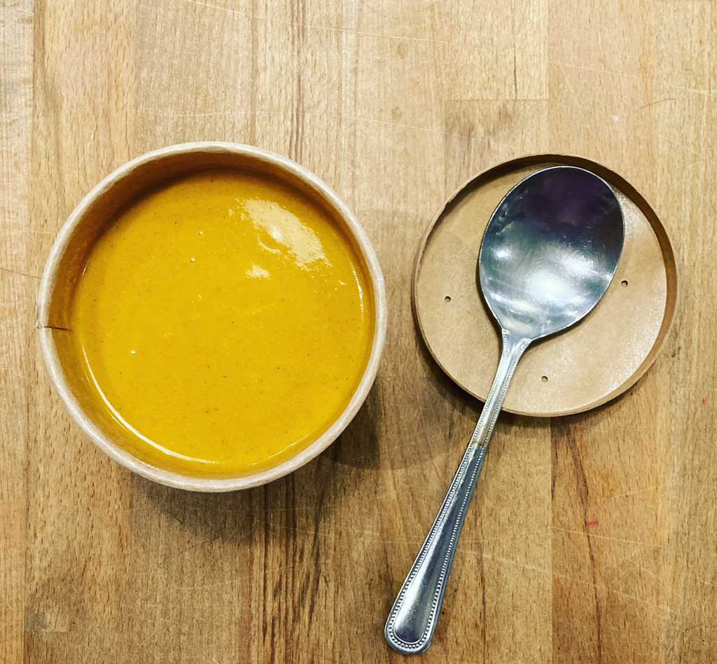 Soup at Blue Tin Produce cafe