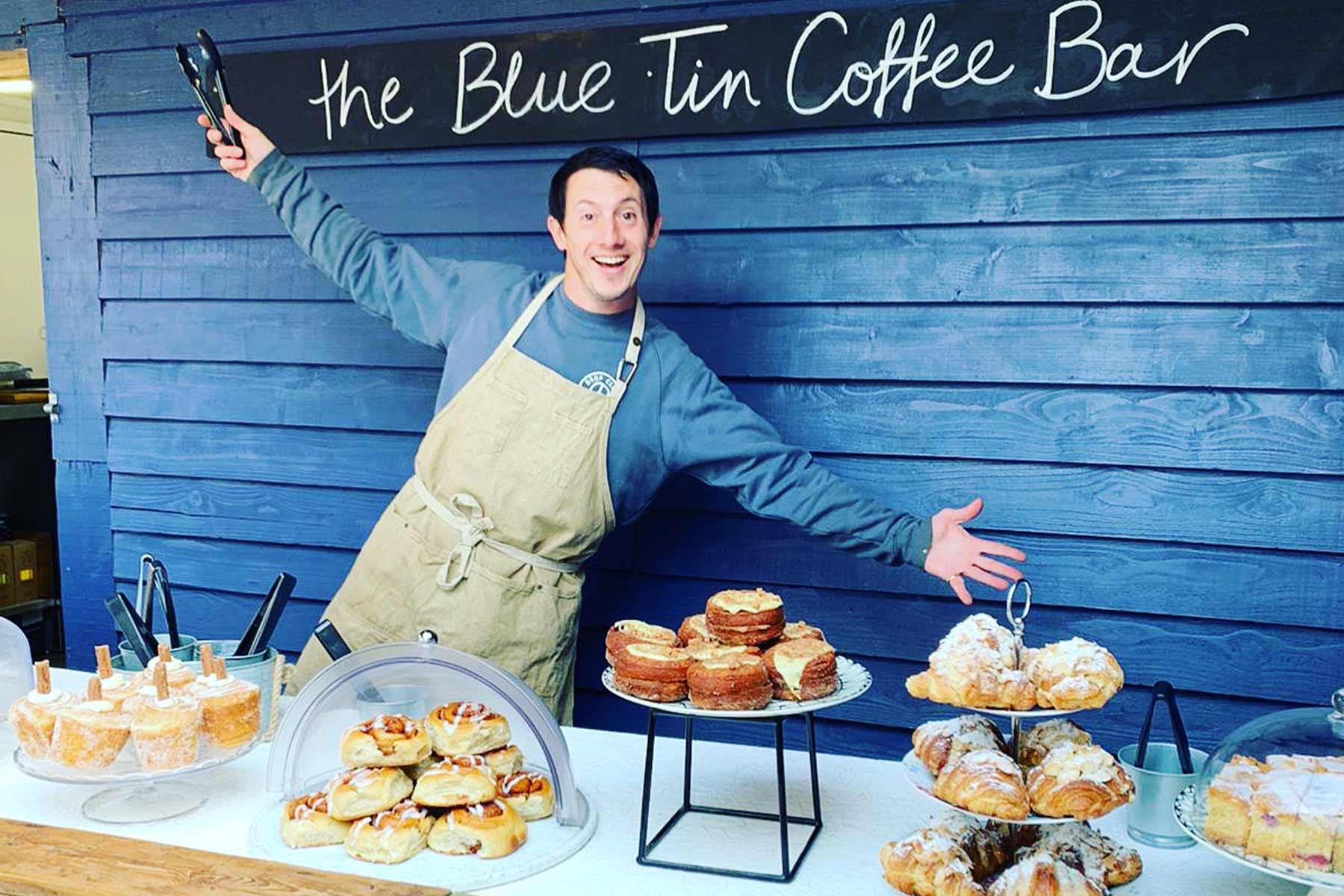 Coffee shop at Blue Tin Produce farm